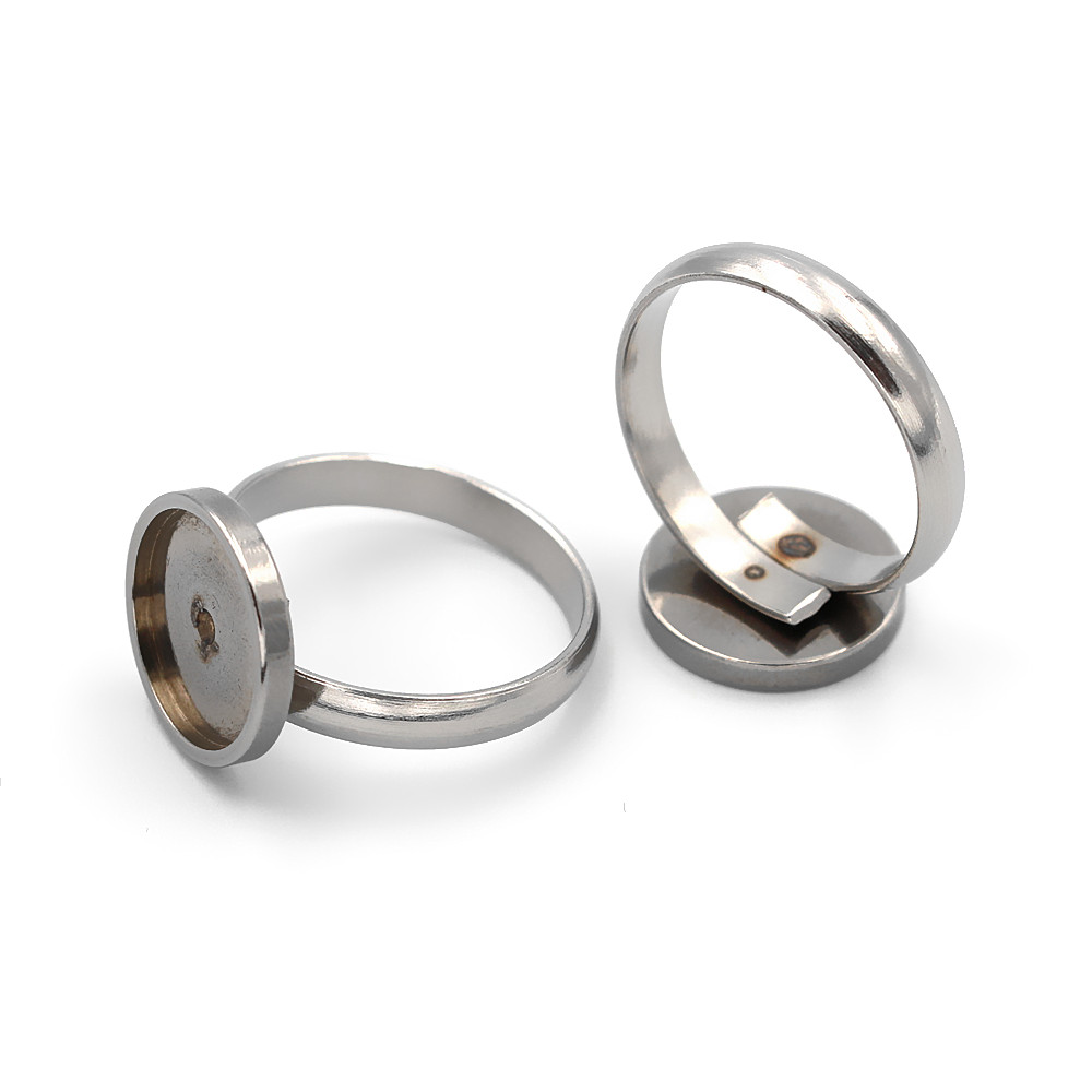 Stainless Steel Ring Settings 8mm 10mm 12mm Round Bezel