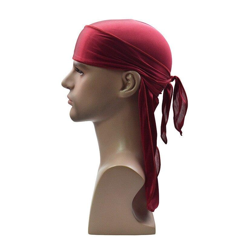 f4d4ec0d3b8 New Fashion Men s Silk Stretch Durags Satin Durag Rags Bandanas Turban Wigs  Headwear Headbands Pirate Hat Hair Cover Accessories-in Women s Hair  Accessories ...
