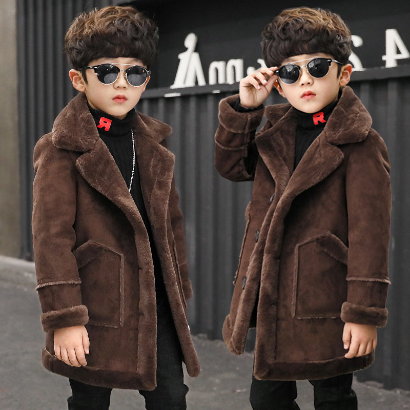 2018 Boys Girls Hooded Jacket Coat Spring Winter Kids Windbreaker for Boy Plus Thicken Fleece Velvet Outerwear Children Clothes2018 Boys Girls Hooded Jacket Coat Spring Winter Kids Windbreaker for Boy Plus Thicken Fleece Velvet Outerwear Children Clothes