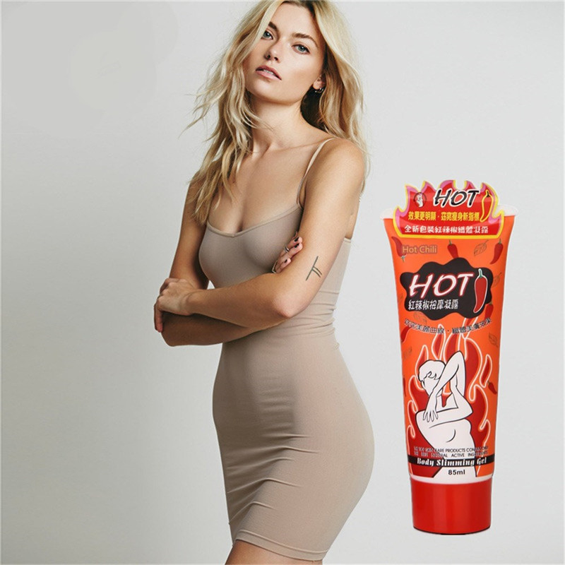 3D effect hot chili heating slimming body cream and lost weight body care 85g