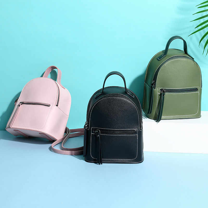 4d73bb60cb Fashion Brand PU Leather Summer Women Backpack Female Designer School Bag  for Teenage Girls Retro Casual