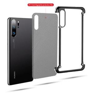 Image 2 - OATSBASF עם כרית אוויר מתכת מסגרת צורת טלפון מקרה עבור Huawei P30 P30 פרו יוקרה טלפון פגוש אנטי ושחרר עמיד הלם טלפון מקרה