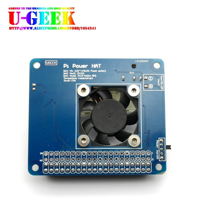 72c2fa0803b UGEEK Pi Power HAT Board with Programmable Smart Temperature Control ...