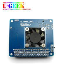 Big discount UGEEK Pi Power HAT Board with Programmable Smart Temperature Control Fan|6V~14V input|4A outmax|For Raspberry Pi 3 model B/2B/B+