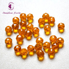 Shangquan Beads Free Shipping! Top AAA 100PCs Clear Mix Color Round Faceted Crystal Spacer 8mm