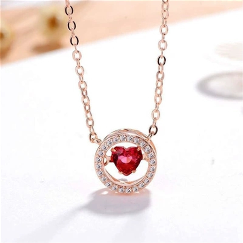 925 sterling silver Pendant necklace Love clever Set auger Women necklace fashion jewelry wholesale in Pendant Necklaces from Jewelry Accessories
