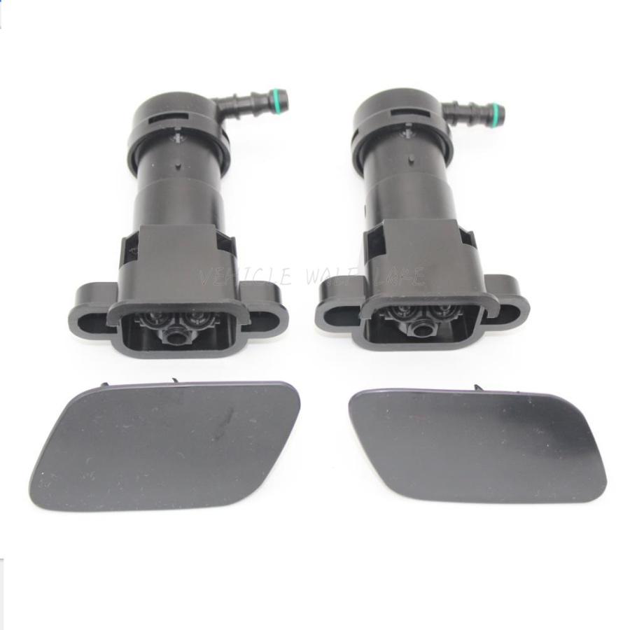Topker 1 Pair of Headlight Washer Nozzle Cover Replacement for A4 B6 2001-2005 8E0955275D 8E0955276D
