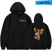Banjo Kazooie Hoodie Funny Long Sleeve Sweatshirts Cotton Printed Hoodies Men Hooded Cartoon Hoodies Hip Hop Clothes 3D Printed