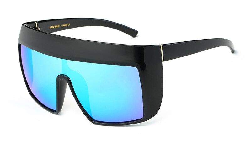 b3aebfe6d5abc RunBird Escudo Óculos De Sol Dos Homens de Grandes Dimensões Mulheres  Celebridade Hip Hop Grandes Óculos de Proteção UV400 Óculos de Sol  Masculinos do Sexo ...