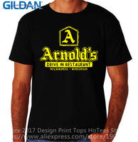 T Shirt Tops Summer Gildan Graphic Crew Neck Arnolds Diner Classic Happy Short Sleeve T Shirts