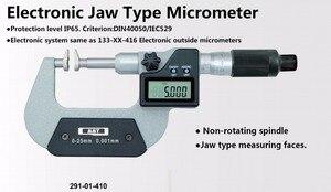 Elektronicznych typ szczęki mikrometr IP65 wodoodporna 0.001mm 0-25mm 25-50mm pomiaru zęba koła zębatego dysk mikrometr