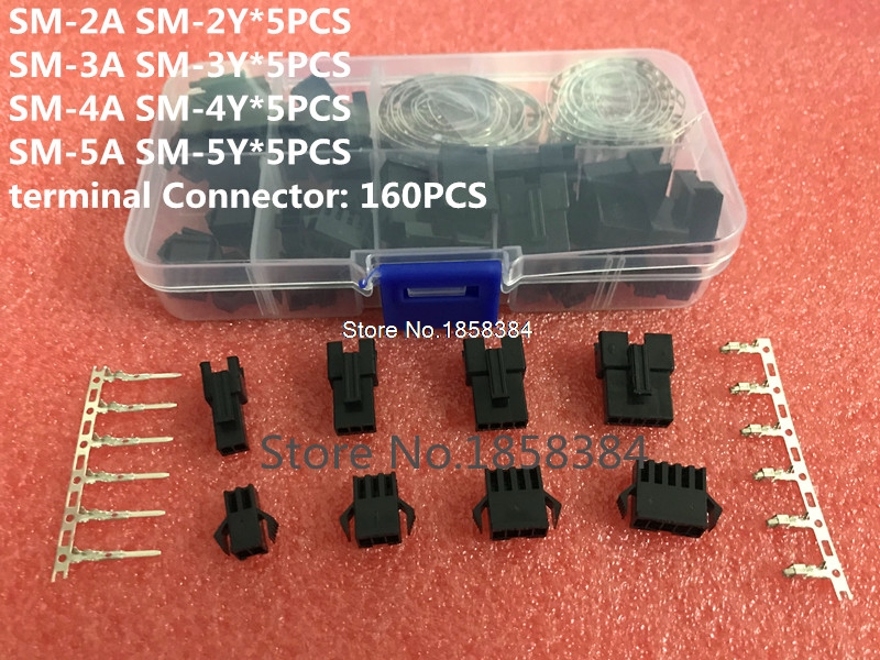 200pcs 2//3//4//5Pin Male//Female Pin Jumper Header Housing Wire Connector Plug Kits