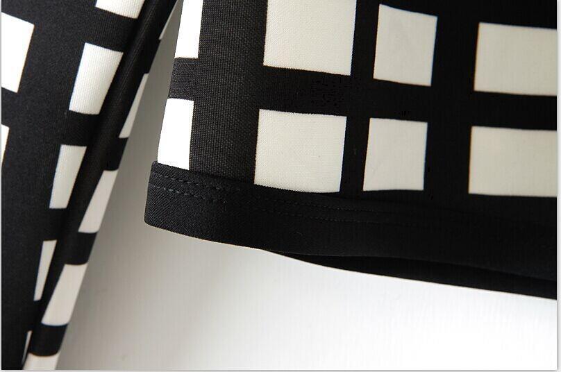 White Black Print Thin Bomber Jacket Cardigan