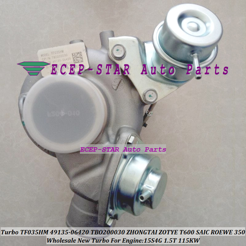 Turbo D'origine TF035HM 49135-06420 4913506420 49135 06420 TBO200030 Pour ZHONGTAI ZOTYE T600 SAIC Pour ROEWE 350 15S4G 1.5 T 115KW