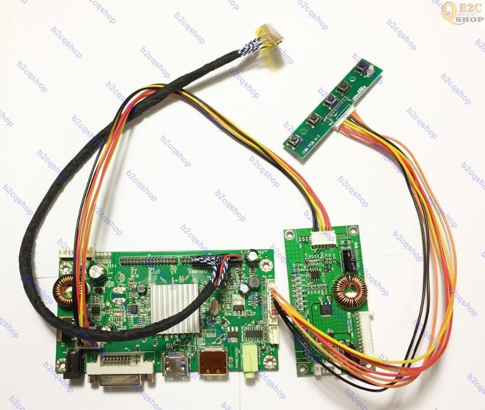 Kit de moniteur de carte de contrôleur LCD HDMI + DVI + DP kit d'inverseur pour 2560X1440 LM270WQ1 (SD) (C2) écran d'affichage de moniteur de LM270WQ1 SDC2-in Kits domotiques from Electronique    1