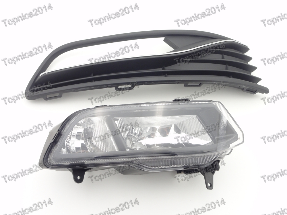 Right Side Clear Fog Light Driving Lamp & Cover Set For Volkswagen Polo 2014-2016 Hatchback