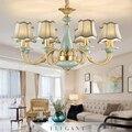 Vintage rame HA CONDOTTO LA luce Lampadario Tradizionale per la casa in ceramica apparecchio di illuminazione retrò soggiorno sala da pranzo HA CONDOTTO LA lampada Lampadario