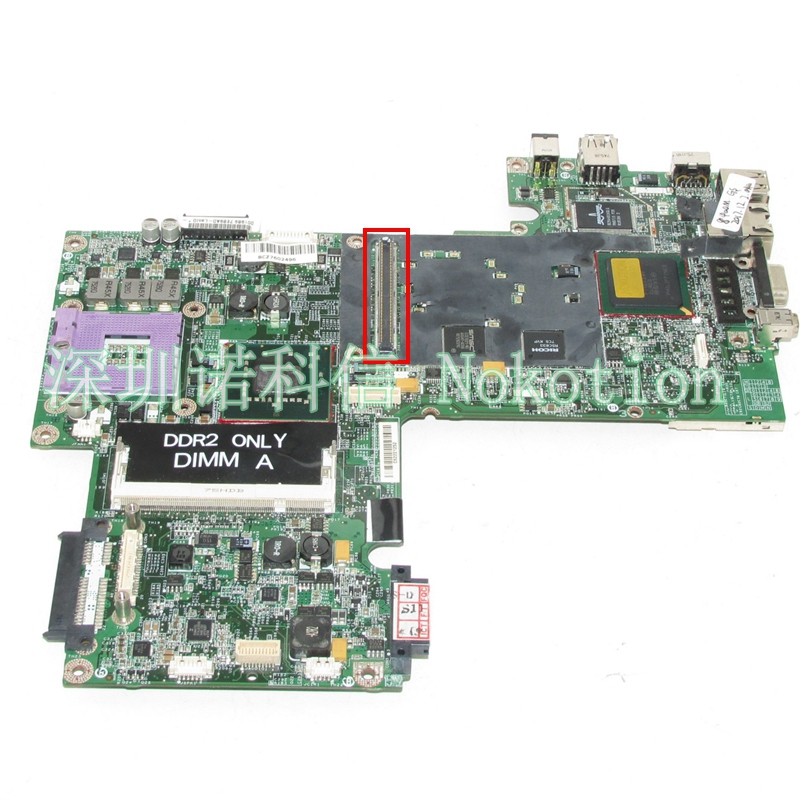 NOKOTION Laptop motherboard for dell 1520 CN-0KU926 0KU926 KU926 DDR2 Mainboard full Works nokotion cn 0uw953 uw953 mainboard for dell inspiron 1501 laptop motherboard 0uw953 ddr2 socket s1