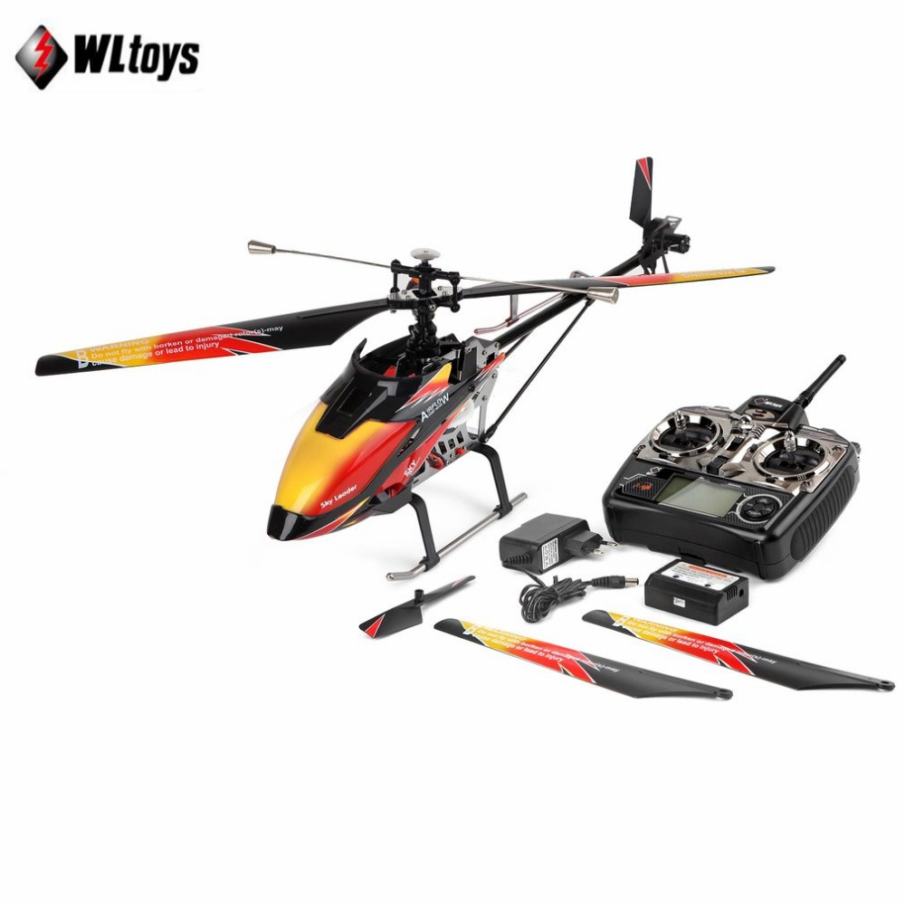 Wltoys V913 Brushless 2.4G 4CH Single Blade Built-in Gyro Super Stable Flight High efficiency Motor RC Helicopter tz