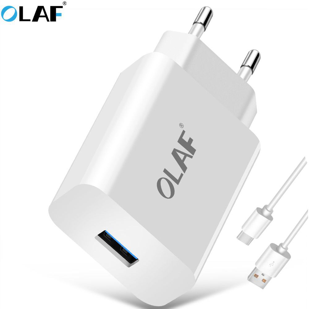 OLAF Quick Charge 3.0 Universal EU Plug USB Power Home Wall Charger Adapter Travel Power Charging Adapter For Huawei Samsung HTC