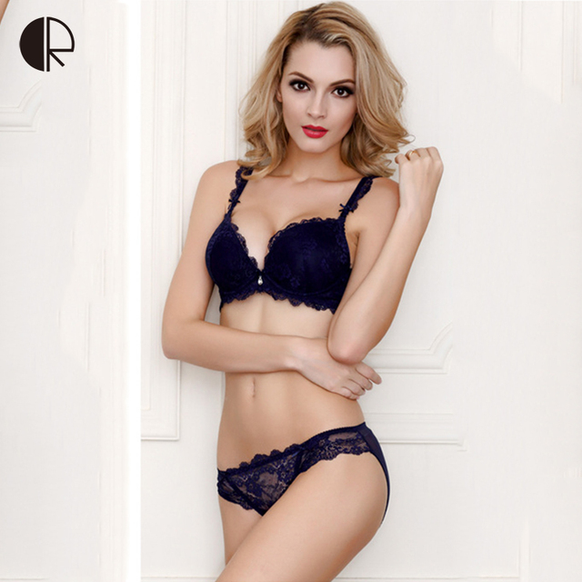 aa5543af9 New Women Sexy Lingerie Lace Bra Set Luxurious Adjust Push Up Underwear 5  Color Plus Size