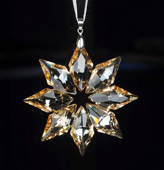 80mm diy champagne christmas snowflake hanging glass pendants 80mm diy champagne christmas snowflake hanging glass pendants crystal suncatcher prism chandelier parts ornament party decoratio mozeypictures Image collections