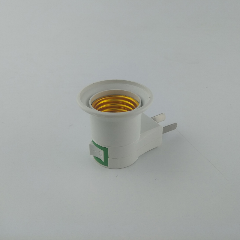E27 Bulb Lamp Holder LED Light Male Socket To EU US Type Plug Adapter Converter For Lamp Base With ON/OFF Button