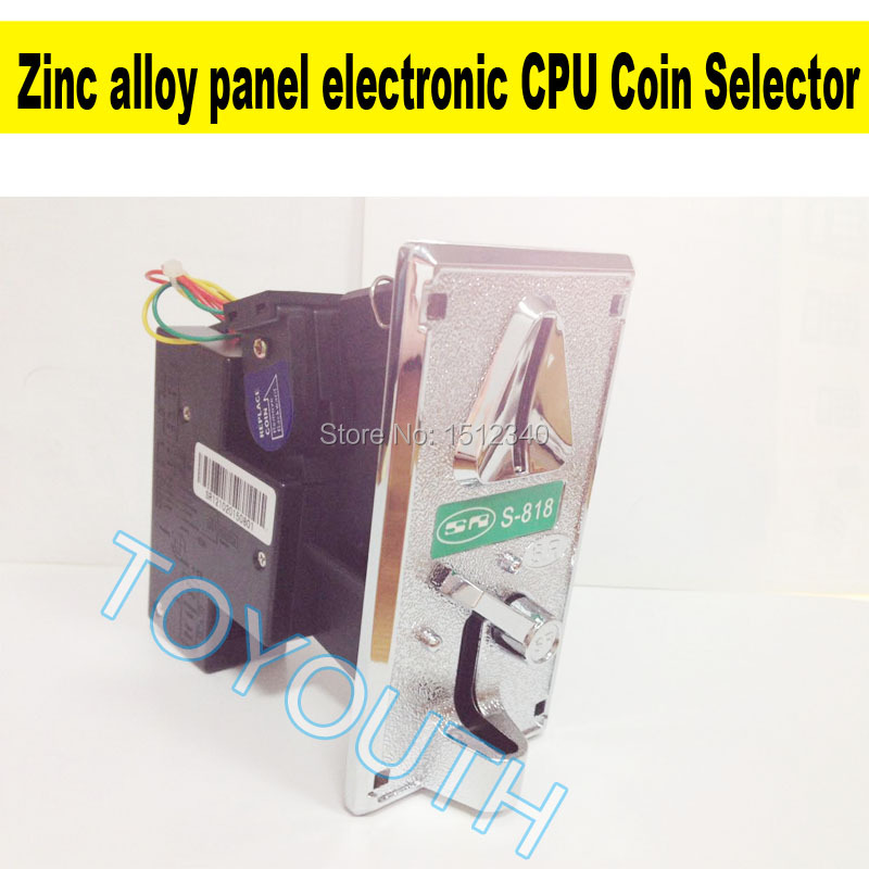 US $7 0 |Zinc alloy panel electronic Coin Selector SR CPU comparison  washing vending Internet cafe machine electronic HS Coin acceptor-in Coin