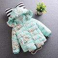 Jaqueta de inverno para as meninas de Inverno meninas do bebê casaco de algodão Grosso do bebê snowsuit Crianças bebê jaqueta de inverno snowsuit