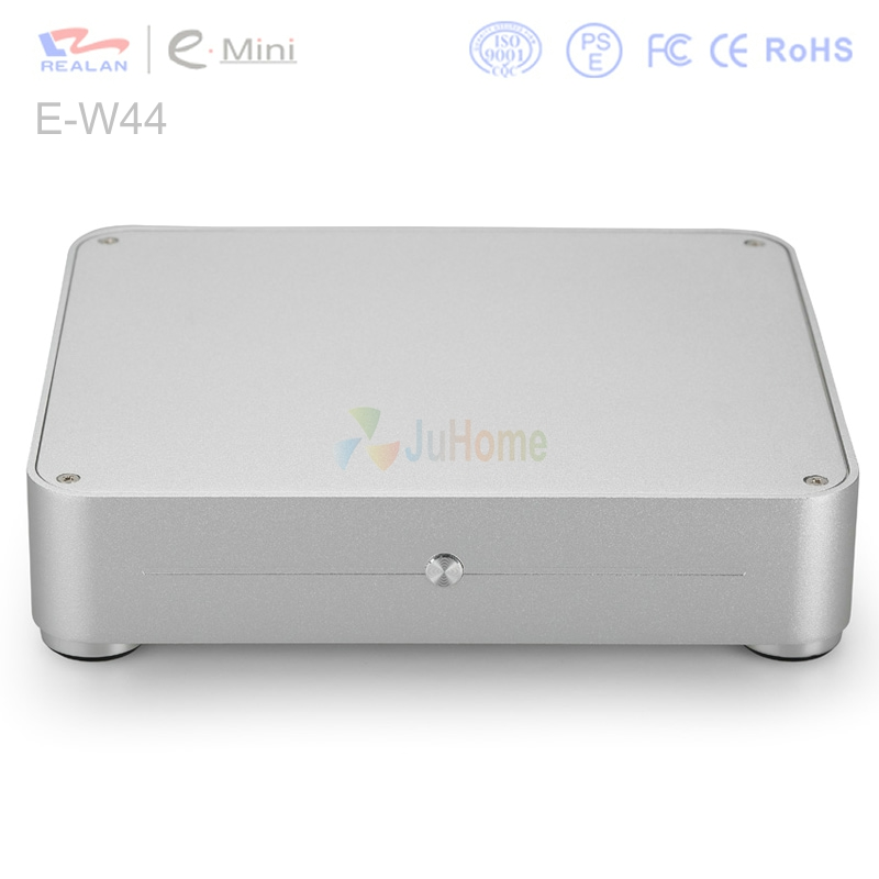 Ultra thin mini-ITX Chassis HTPC, 225*44*200mm with 60W, aluminum, 2.5''HDD, mini case for HTPC, WIFI / Audio Port, Realan E-W44 realan aluminum mini itx desktop pc case e i7 with power supply cd rom slots black silver