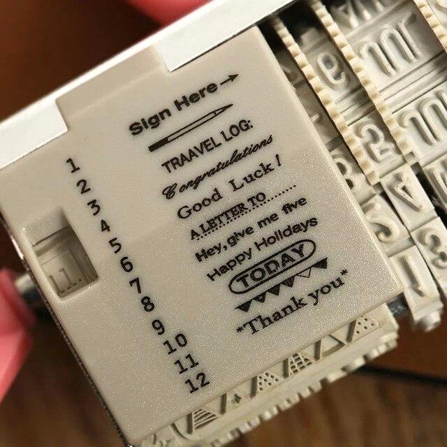 Planificateur coréen timbres mots et Date timbre pour journal portable accessoires roue caoutchouc rouleau fournitures de bureau papeterie scolaire