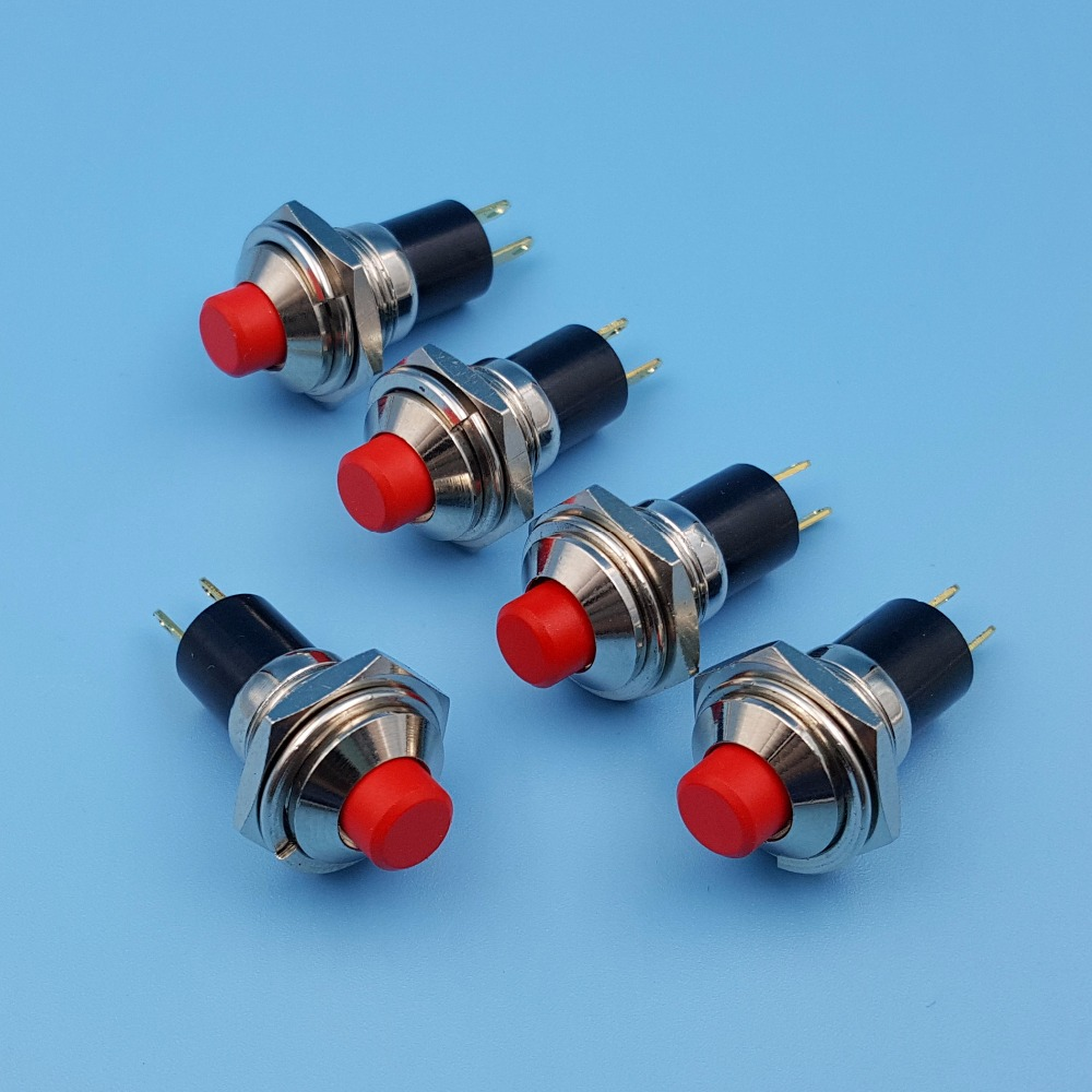 5Pcs JS 725 10mm ON OFF 2Pin Maintained 1NO SPST Mini Push Button ...