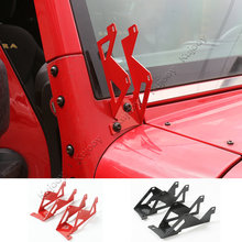 New Arrival Black/ Red Pair A-pillars Mounting Metal Dual A-pillar Mount Brackets For Jeep Wrangler 2008-2016 Car Styling