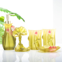 Bathroom five piece bath combination resin bathroom set bathroom kit sanitary ware wash mouth cup lotus LO726729