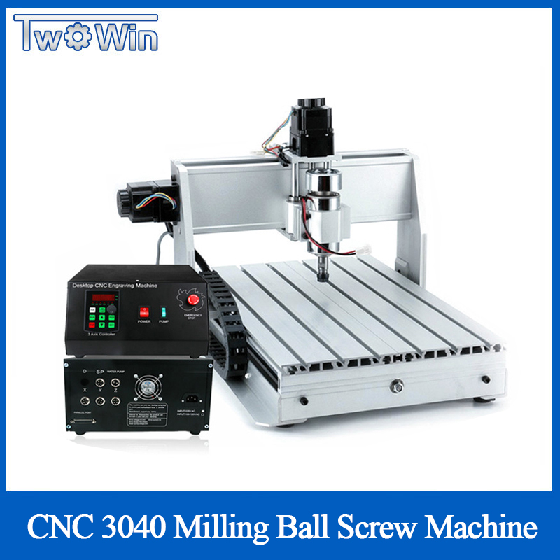 1 5KW Three axis Ball Screw CNC Router Four axis Engraver Engraving Milling Drilling Cutting Machine