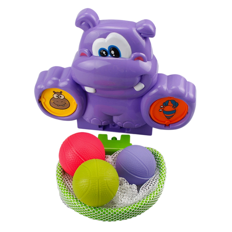 Splashing Basketball Hoop Bath Game Kids And Kids Bath Toy Set Purple