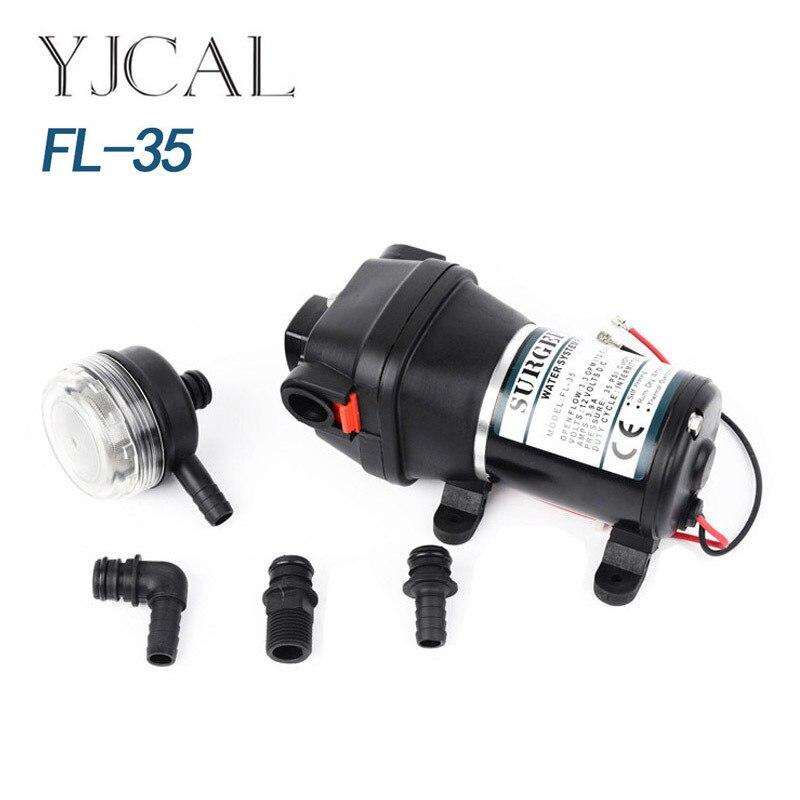 FL-35 12V 24V DC Electric Diaphragm Self Priming Shower Shower Pump Suction Pump