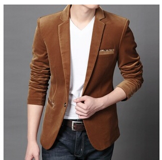 f5cd3128931 5 colors M 4XL Hot New Men Luxury Velvet Blazer Slim Fit Spring Autumn  Jacket Suits Male blazer Party Wear Good Quality-in Blazers from Men s  Clothing on ...