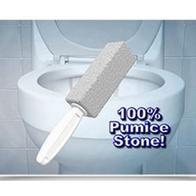 2pcs Bathroom Toilet Cleaning Brushes Practical Portable Natural Pumice Stone Cleaner Brush Wand Household Tool
