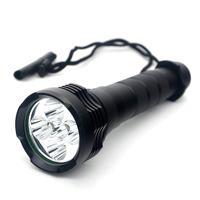 5*XM-L2 LED Diving 80 Meter Flashlight Waterproof Lantern Lamp Handheld 18650 Torch Light Outdoor Fishing Camp Hunting 15000LM 5000lm xm l2 waterproof underwater 80 meter led diving flashlight torch lamp light lanterna