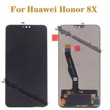 """6.5 """"תצוגה מקורית עבור Huawei Honor 8X JSN L21 JSN AL00 JSN L22 LCD + מסך מגע digitizer לכבוד 8 X LCD עם מסגרת"""