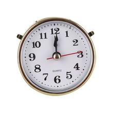 1 шт., новинка,, 2-1/2 дюйма(65 мм), часы, кварцевый механизм, вставка в римские цифры, белое лицо, золотая отделка, аксессуары для часов, Прямая поставка