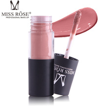 MISS ROSE 12 Colors Tube matte gloss is not easy to stick cup lip waterproof decoloring makeup