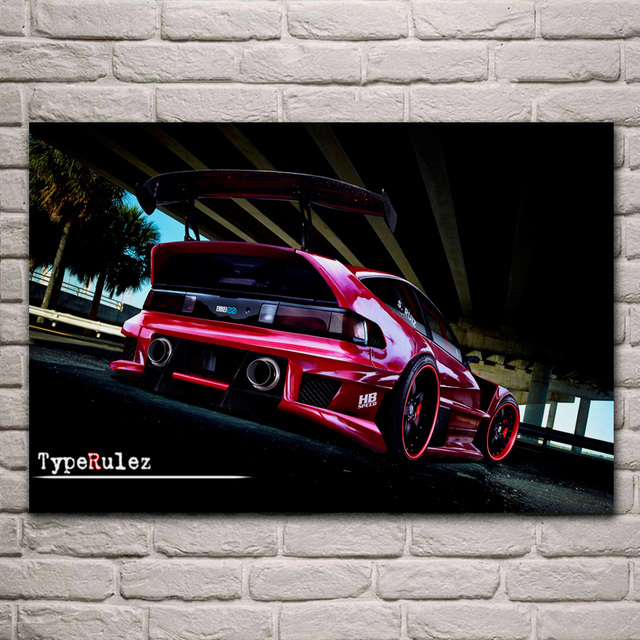 Hot Rod Low Ride Sports Car Kb975 Living Room Bedroom Home Wall Modern Art Decor Wood Frame Posters