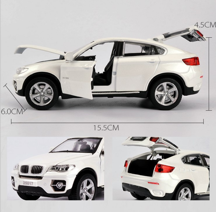 1 32 X6 SUV Coupe Simulation Toy Vehicles Model Alloy Pull Back Children Toys Genuine License Collection Kids Gift Off Road Car in Diecasts Toy Vehicles from Toys Hobbies