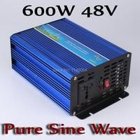 Новый Дизайн 600 Вт инвертор 48 В постоянного тока до 110 В или 230 В с 1200 Вт Surge Мощность, 600 Вт Чистая синусоида Мощность инвертор