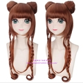 The deep color double Harajuku flax variety twist Cosplay wig other detachable buns