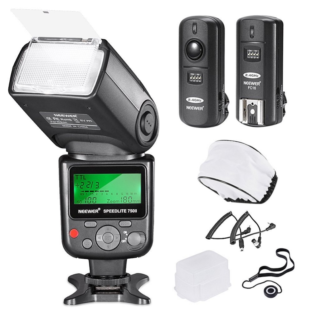 Neewer PRO i-TTL FlashDeluxe Kit for NIKON DSLR D7100 D7000 D5300 D5200 D5100 D5000 D3200, D600, D4 D3S D3X D3 D SLR Camera