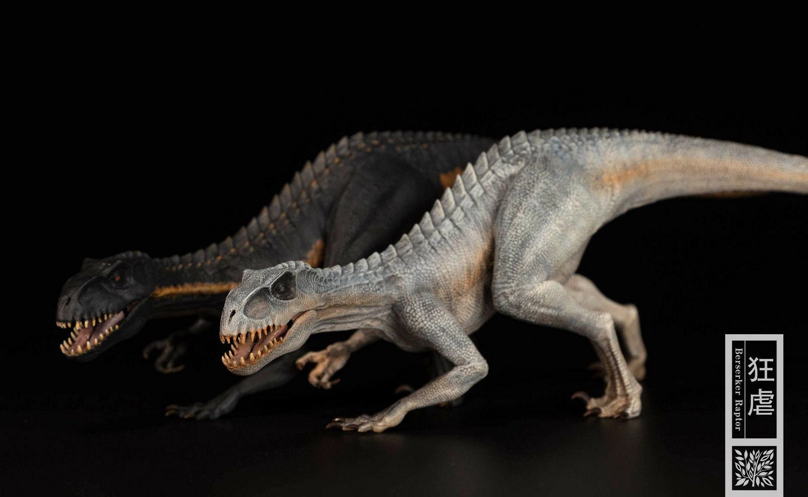 1:35 Bereserker Raptor Indoraptor Figure Statue Jurassic Animal Dinosaur Model Ancient Biological Adult Kids Collection ToysGift