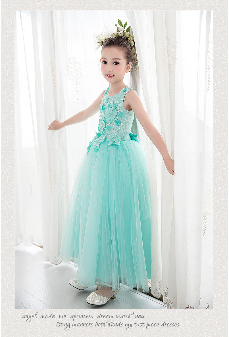 2018 Summer Girl Dress New Fashion Cotton Lace Birthday Party Piano ...